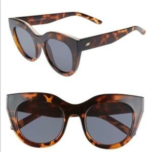 NWOT Le Specs Air Heart Sunglasses Tortoise